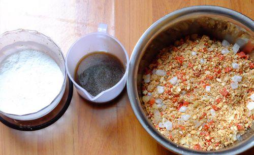Cách trộn nhân bánh trung thu thập cẩm
