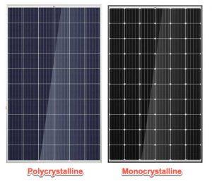 Sự khác nhau của pin mặt trời mono và poly