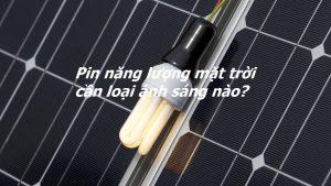 Pin năng lượng mặt trời cần loại ánh sáng nào?