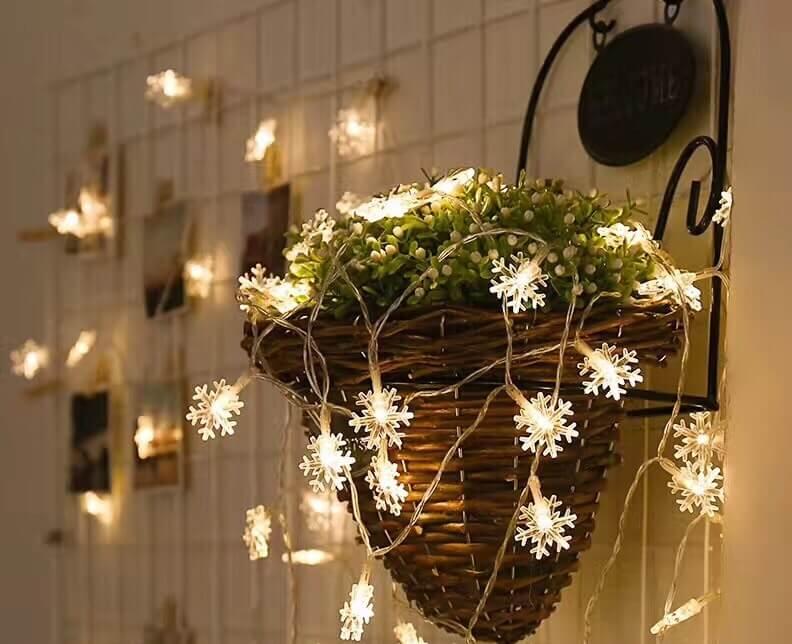 đèn led trang trí hình bông tuyết
