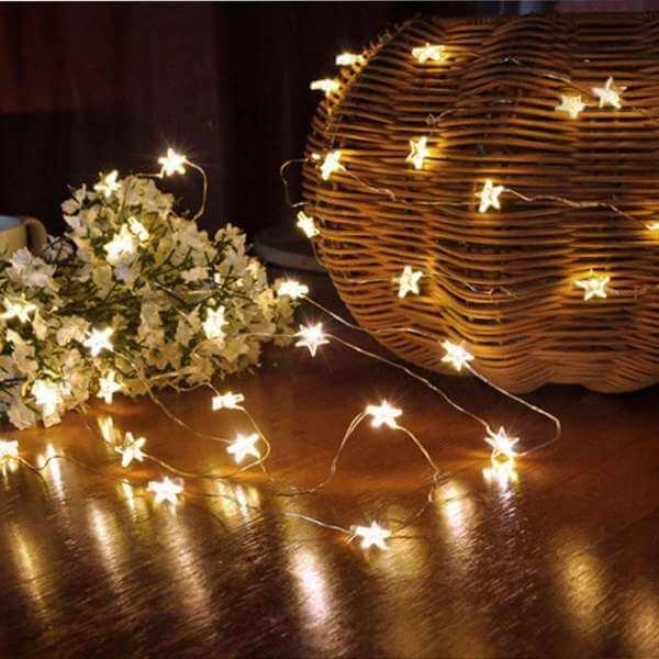 đèn led day ngôi sao trang trí